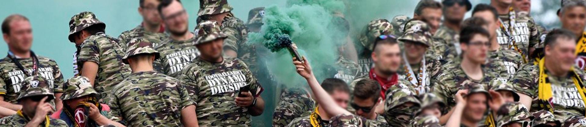 Krieg dem DFB-Marsch in Karlsruhe: Dynamo Dresden erklärt dem DFB den Krieg
