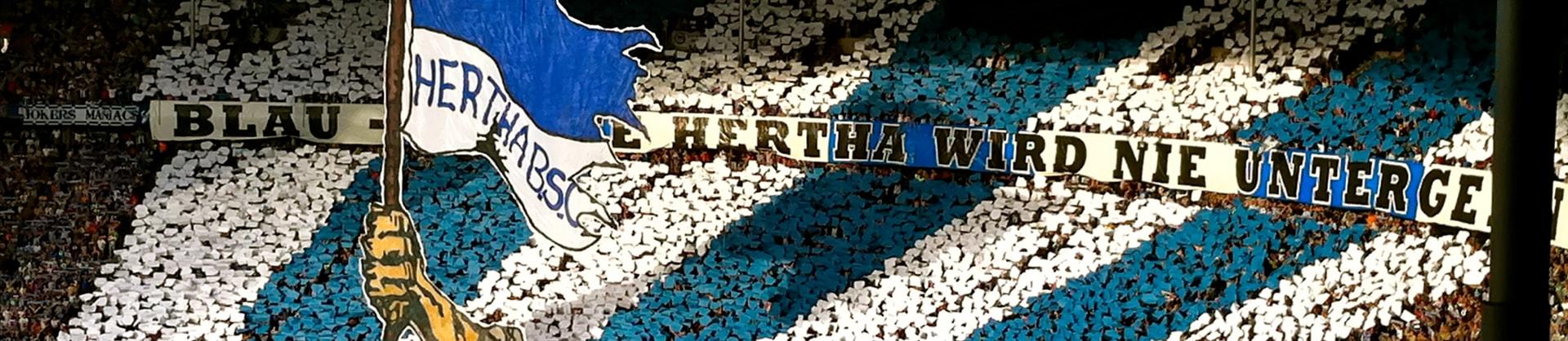 Auseinanderseztungen zwischen Hertha-Fans und der Polizei