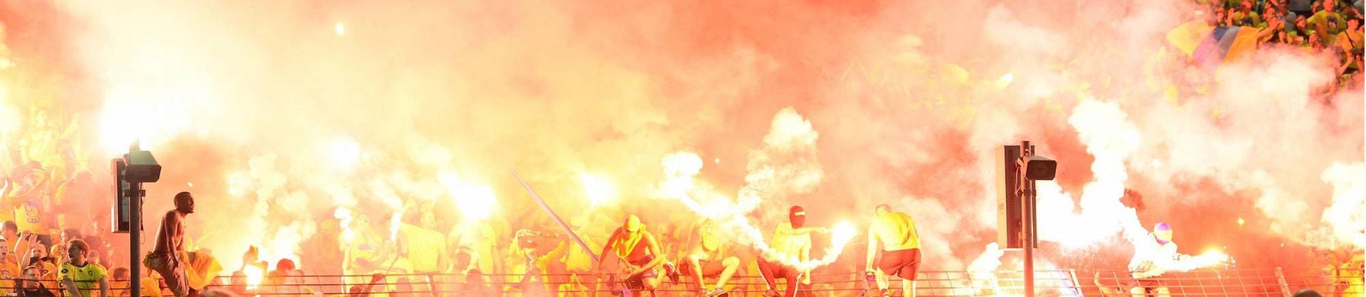 Fanaktionen im Achtelfinale des DFB-Pokals