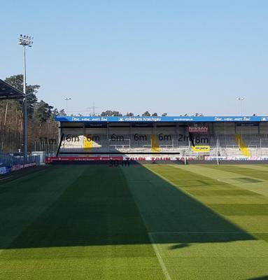 Abmessung Gästeblock BWT-Stadion am Hardtwald Sandhausen
