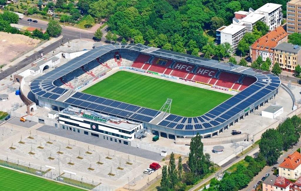 HFC Stadion von Oben