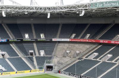 Abmessung Gästeblock Borussia Park Mönchengladbach