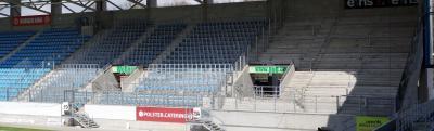 Abmessung Gästeblock Stadion an der Gellertstraße Chemnitz