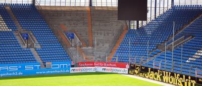 Abmessung Gästeblock Vonovia Ruhrstadion Bochum