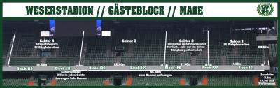 Abmessung Gästeblock Weserstadion Bremen