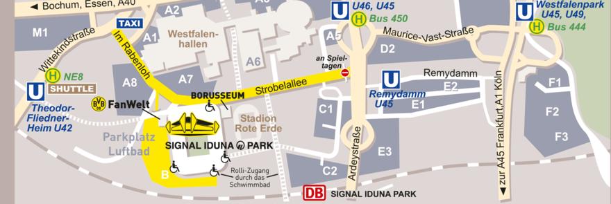 Anfahrt Signal-Iduna-Park