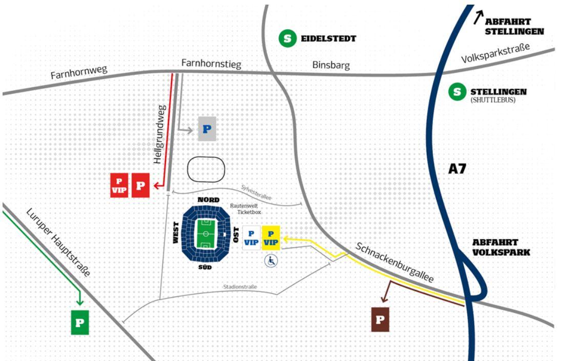 Anfahrt Volksparkstadion