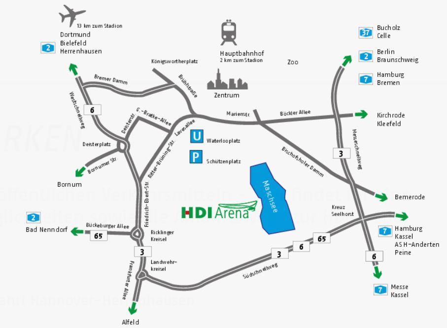 Anfahrt HDI Arena