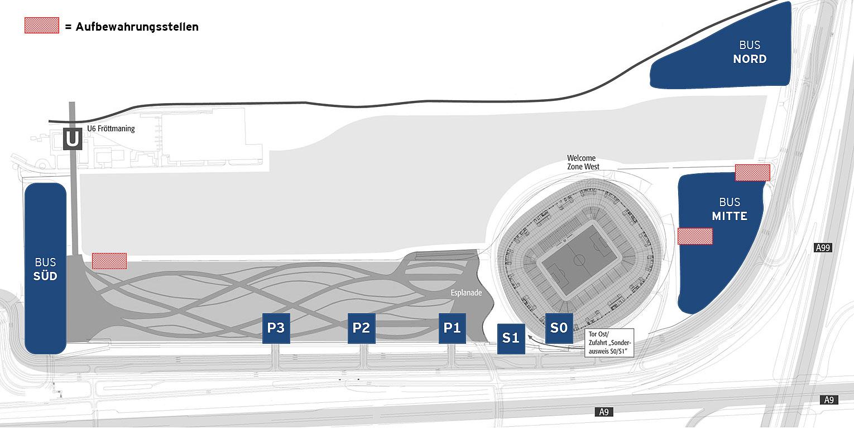 Anfahrt Allianz Arena