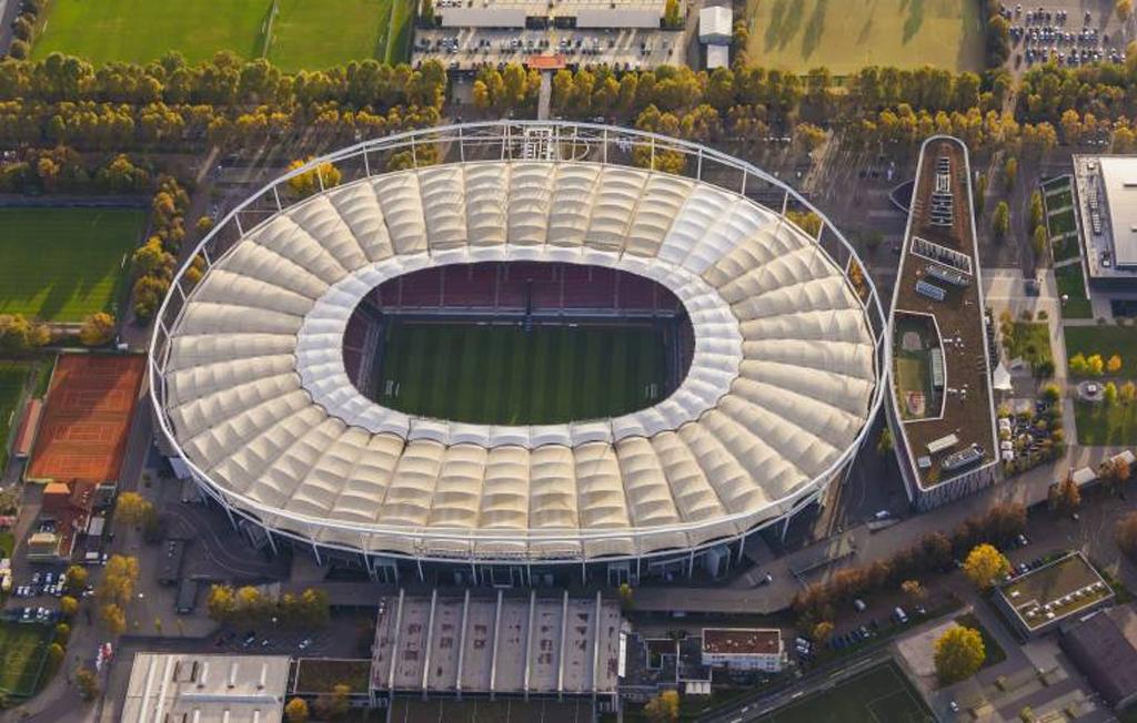 Neckarstadion von Außen Stuttgart