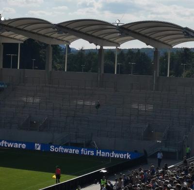 Abmessung Gästeblock Ludwigsparkstadion Saarbrücken