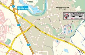 Anfahrt Audi Sportpark