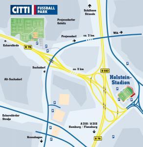 Anfahrt Holstein-Stadion