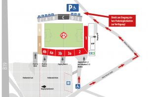 Anfahrt flyeralarm Arena