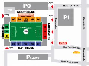 Anfahrt Stadion Zwickau